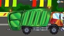 ✔ Dessin animé voiture. Voiture de course, Le Camion Monstre, Grue. Voiture pour enfants ✔