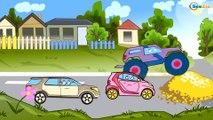 Dessins animé voiture. Le Camion Monstre, Camion, Pelleteuse. Tiki Taki Dessins Animes