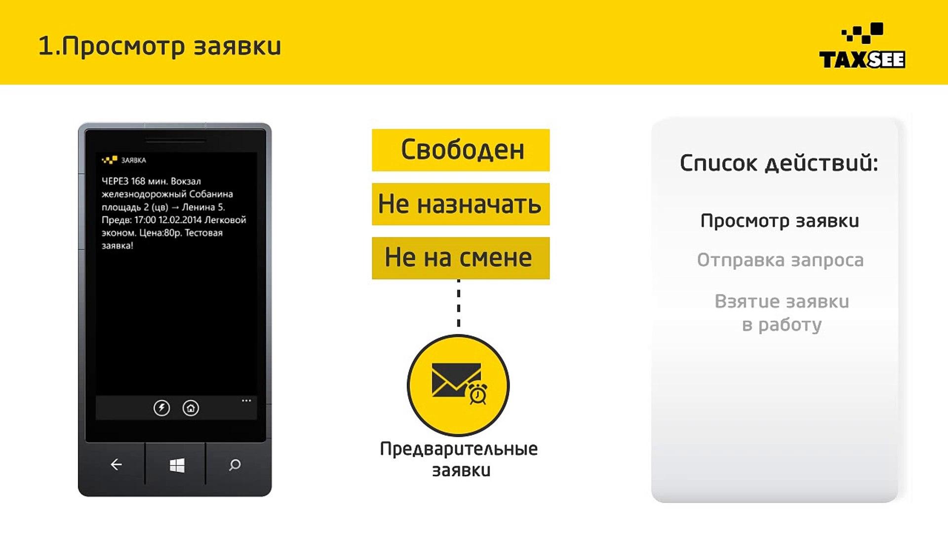 Windows Phone: 10. Как взять заявку? Часть 4 - Предварительные заявки