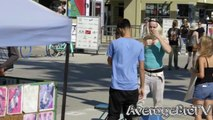 Kissing Prank - Twins Edition - Hot Blonde Girls Giving FREE Kisses