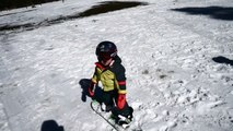 19 Month Old Toddler Snowboarding
