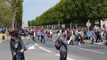 Manif sauvage contre la loi Travail à Caen le 26 mai 2016