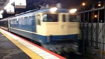 山陽トワイライト!EF65+24系トワイライト新大阪駅到着