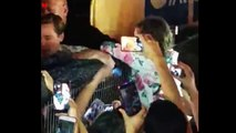 Brad Pitt saves child from being crushed as excited crowd surge forward