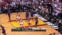 Dwyane Wade 19 points (2 sick dunks and nice reverse) vs New York Knicks game 1 playoffs 2012.04.28