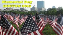 Memorial Day:  37,000 Flags to Honor Fallen Soldiers (Boston, 2016)