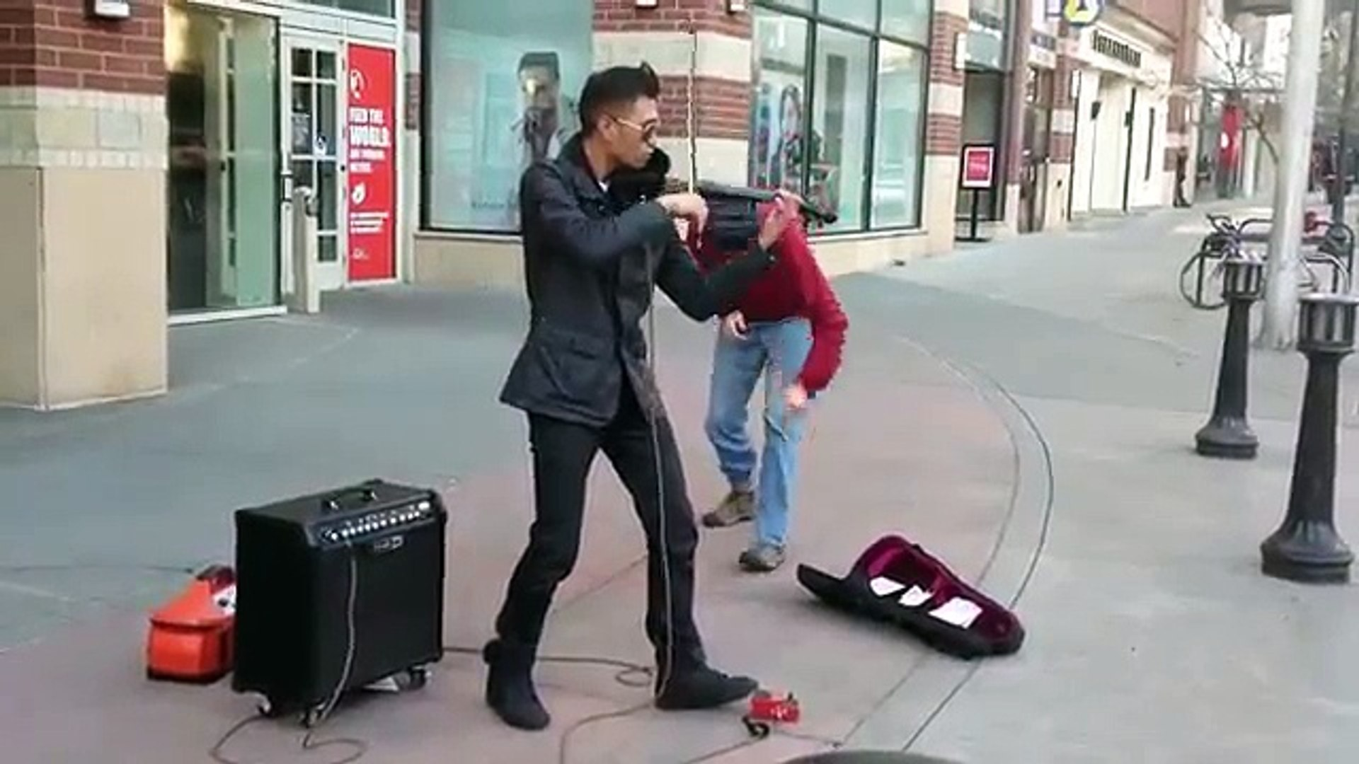 AMAZING Street musician Epic Violinist Music Video HD