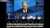""""""" La Sainte Russie """" - Discours de Poutine au Clud de Valdaï (2013) / France Nation"""