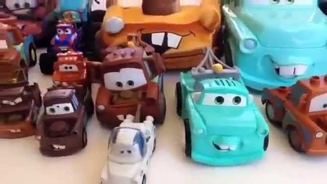 Fast Food Toys Burger ✿◕ Play doh ice cream cupcakes,  Cars Tow Truck Mater Collection