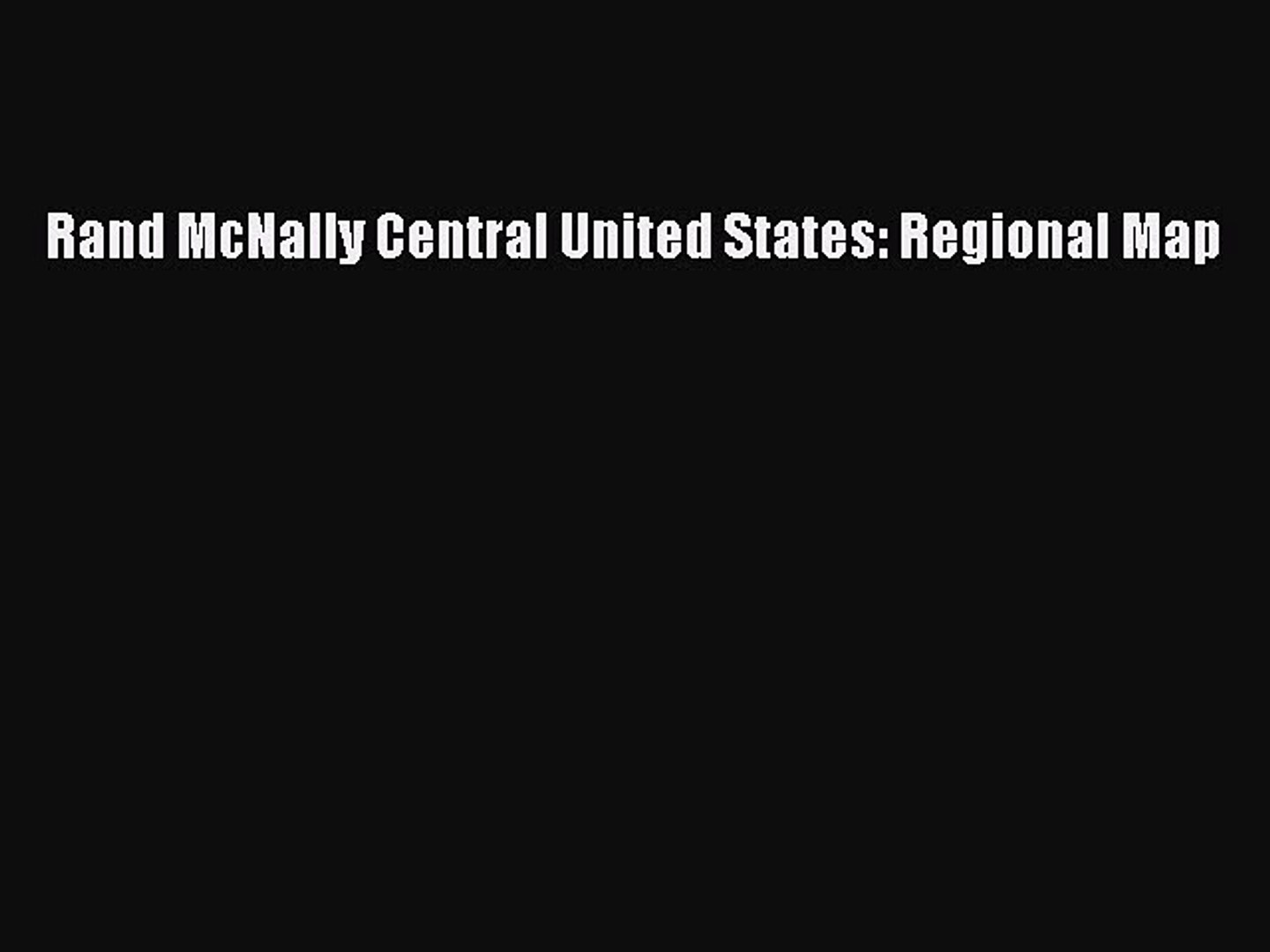 Rand McNally Central United States Regional Map