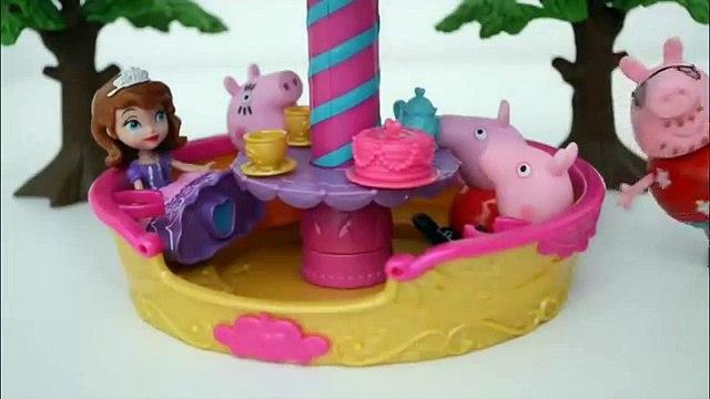 Pig George Da Familia Peppa Pig no Balao da Princesa Sofia!!!