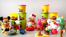 Disney Characters Toy for kids - Disney Toys - Play Doh Background