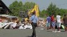 Destruction de cabanes au squat de l'avenue Thiers à Bordeaux