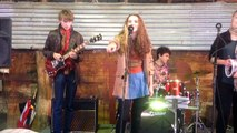 """""""Tighten Up"""" by the Black Keys covered by Rhythm Fiction, Canberra Art Market Old Wool Shed 20140504"""