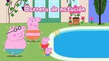 Peppa Pig español La competencia de natación  Vacaciones de Peppa Pig