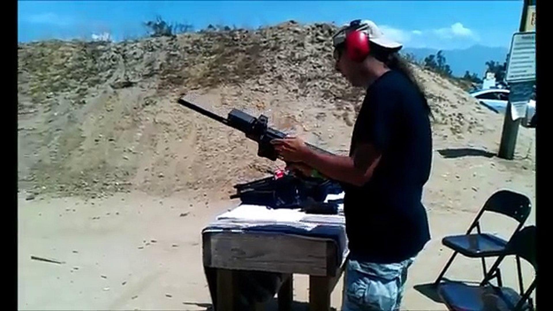 AR15 calico 9mm upper on ar15 conversion 100 round drum CARMAC AR-15