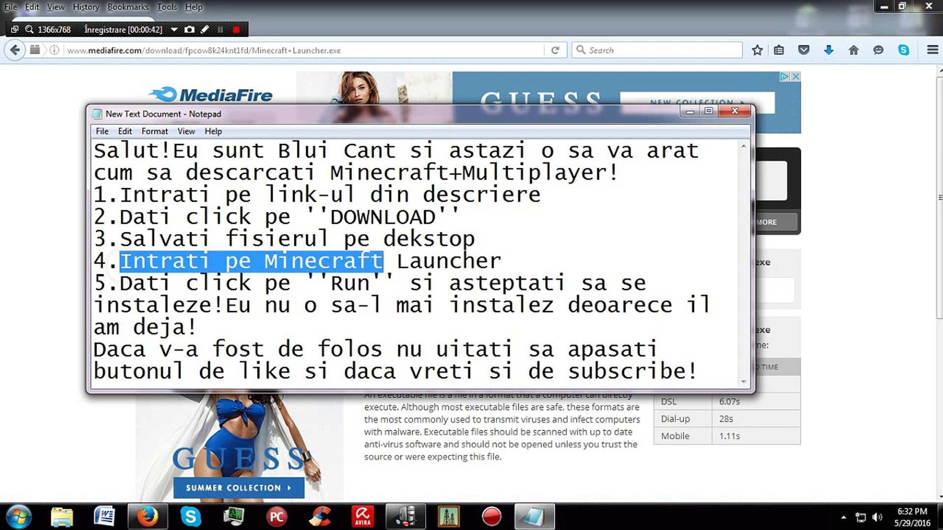 Tutorial|Cum sa descarci Minecraft+Multiplayer