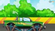 Arabalar çizgi filmleri. Monster Truck, Yarış arabası. Eğitici çizgi film. Tiki Taki Arabalar