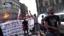 """25 aprile Napoli, cori: """"Salvini a testa in giù"""""""