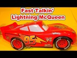 The Pixar Cars Fast Talking Lightning McQueen Review from Disney Cars and Cars2