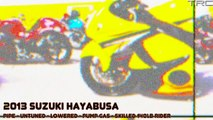 BMW S1000RR and Hayabusas street race over 200mph - INSANE FLYBY