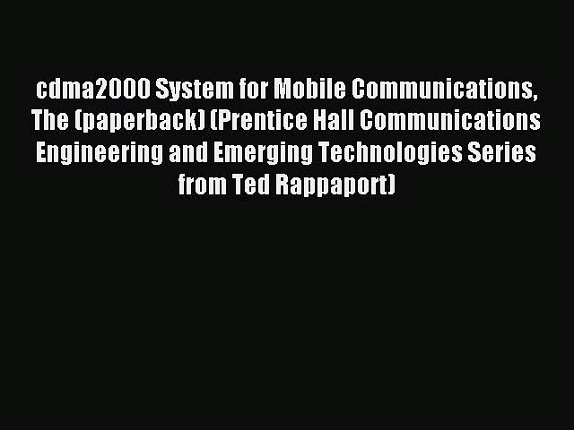 Read cdma2000 System for Mobile Communications The (paperback) (Prentice Hall Communications