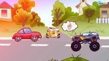 ✔ Dessin animé voiture. Le camion monstre pour enfants. Voitures pour bébés. Tiki Taki Voitures ✔
