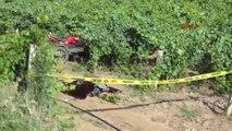Manisa Turgutlu Sepetli Motosikletiyle Bağa Uçan Sürücü Öldü