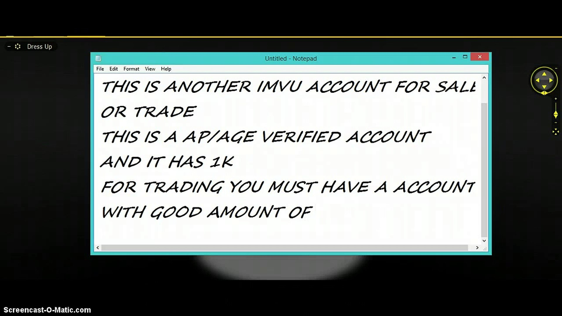 AP imvu account for sale