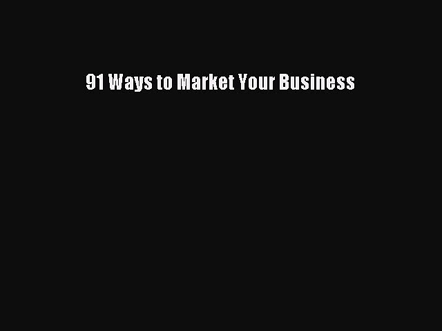 READbook91 Ways to Market Your BusinessBOOKONLINE