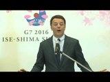 Giappone - Vertice G7 Giappone, conferenza stampa di Renzi (27.05.16)