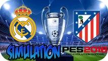 Final Champions League 2015-2016 | Real Madrid 1-1 (5-3p) Atlético Madrid | 28/05/2016 | Simulation PES |