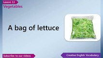 Learn English   English Vocabulary Lesson 13   Vegetables   Free English Lessons, ESL Lessons