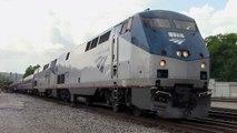 Amtrak Train 19, westbound Crescent at Anniston Amtrak Station 7/23/14