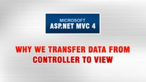 ASP.NET MVC 4 Tutorial In Urdu - Why we transfer data from controller to View