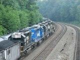 Pushers on coal train