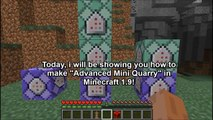 Minecraft 1.9 Redstone Tutorial : Mini Advance Quarry in Minecraft