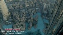 Dubai Burj Khalifa Sky Bar, Doris Visits goes up and looks down