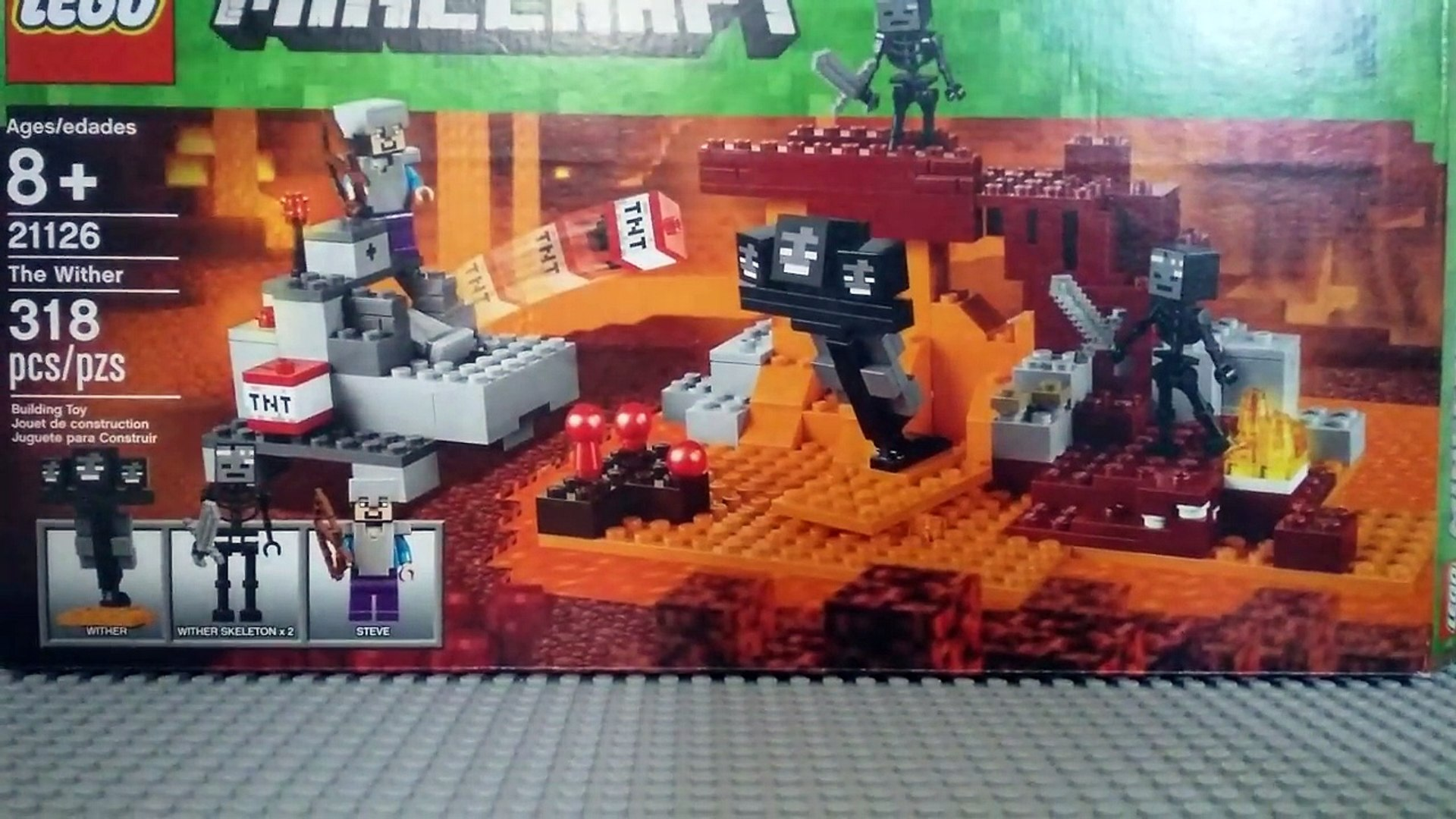 Lego Set Review Minecraft The Wither Video Dailymotion
