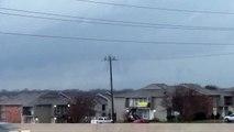 12-26-2015 Funnel cloud and close lightning strike near Hillsboro, TX.