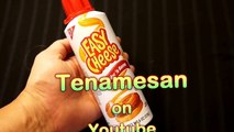 Easy Cheese aerosol - eaten with bagels