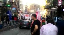 Polis eylemcilere plastik mermiyle müdahale etti