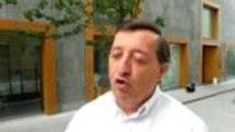 Réaction à froid de Christian Laffitte après la défaite du Billère Handball en finale