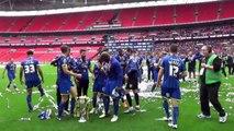 AFC Wimbledon's Wembley celebrations after winning promotion