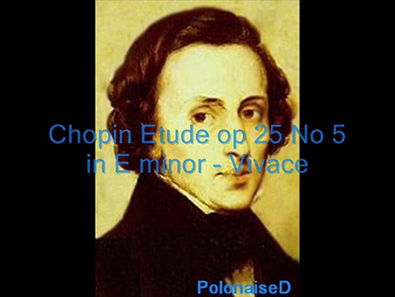 Chopin Etude op 25 No 5