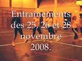 Entraînements des 25, 26 et 28 novembre 2008
