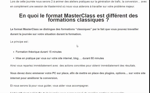 RDV le 25/06 à Paris pour une journée de formation sur la Génération de trafic