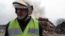 Les pompiers luttent contre un incendie chez Ulysse