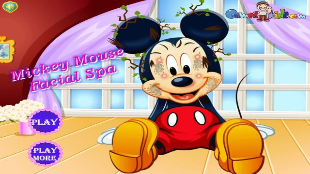 Disney Mickey Games - Mickey Mouse Facial Spa - Mickey Mouse Games for Kids