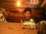 Antonio's 7th birthday, dinner & bday cake at Montana's restaurant, June 25, 2010